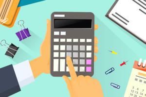 41187553 - calculator business man hand office desk accountant